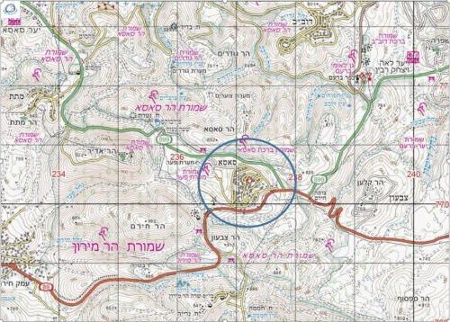 עמירם במשעולי ישראל- קיבוץ סאסא בזמן השקיעה