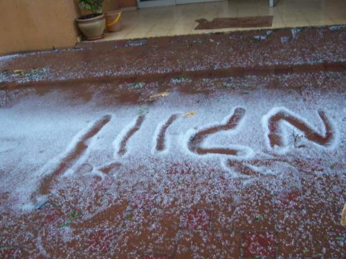 שלג על עירי